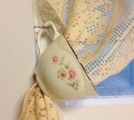Teacup Curtain Tiebacks