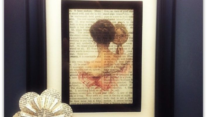 Vintage Upcycled Dictionary Art Prints
